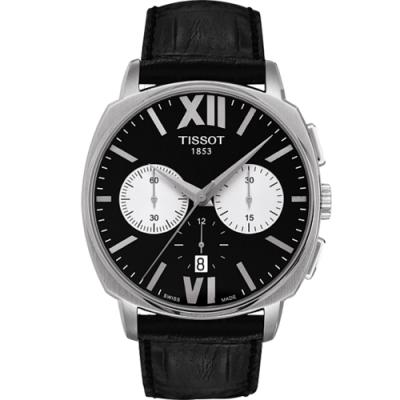 TISSOT 天梭 T-Lord 都會紳士三眼計時機械表 T0595271605800