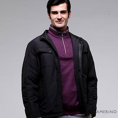 ROBERTA諾貝達  內裡舖棉 設計款禦寒夾克外套  黑色