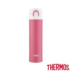 THERMOS膳魔師 超輕量彈蓋 不鏽鋼真空保溫瓶0.4L(JNI-401-MP)