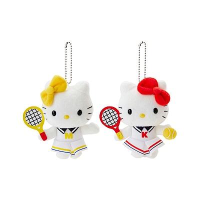 Sanrio HELLO KITTY活力網球系列造型玩偶吊鍊組(一組2個入)