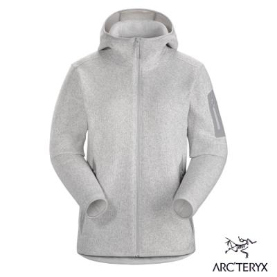 Arcteryx 始祖鳥 女 24系列 Covert 連帽刷毛外套 灰白