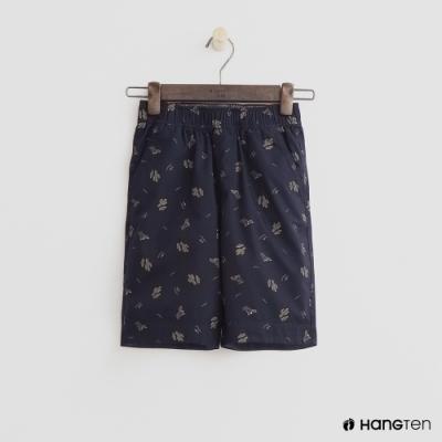 Hang Ten -童裝 - 純色滿版汽車印花短褲 - 深藍