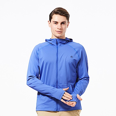 【HAKERS 哈克士】男 抗UV快乾外套-蔚藍色