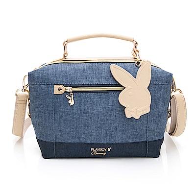 PLAYBOY-  手提包附長背帶 單寧世代系列 -藍色
