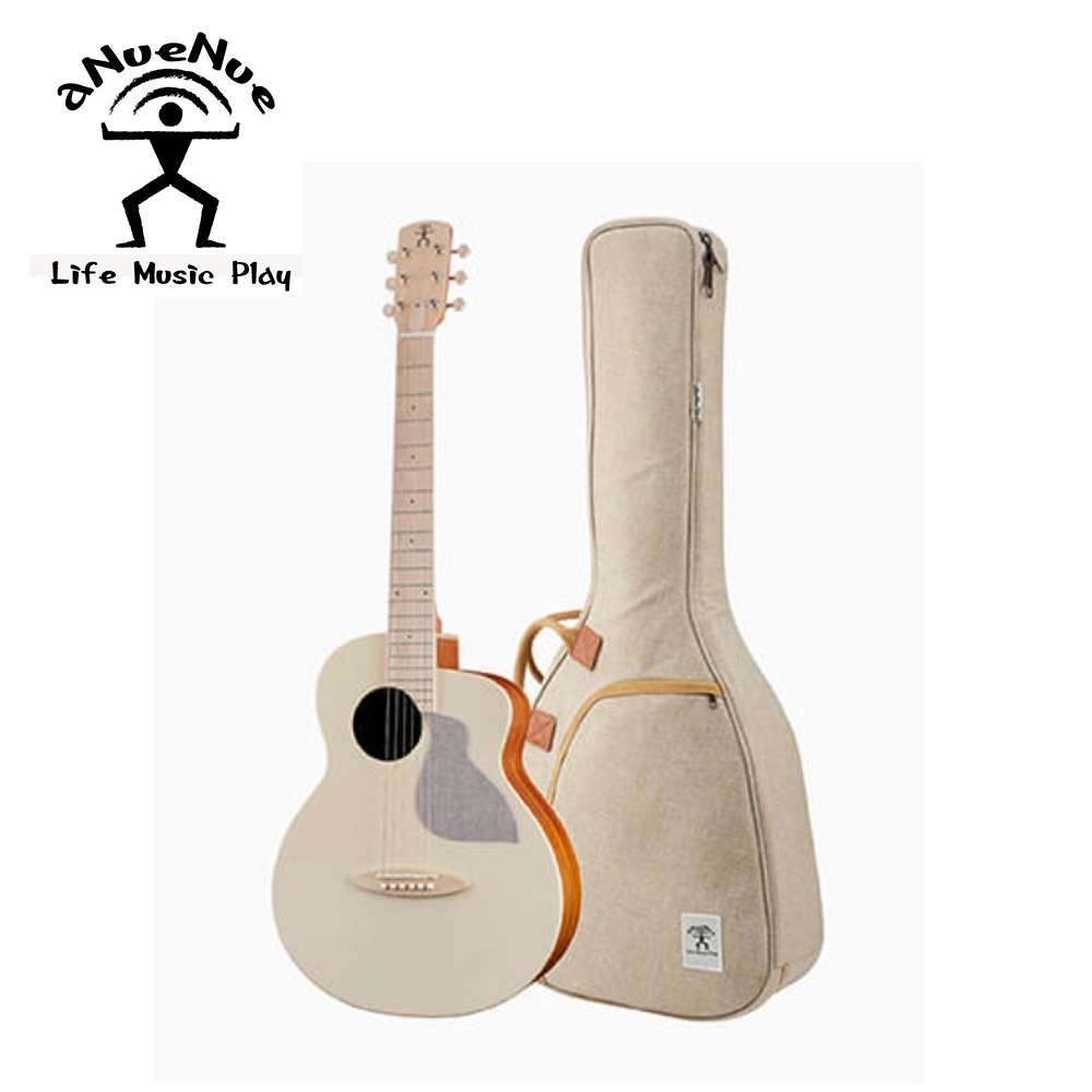 aNueNue MC10 AM 36吋旅行木吉他 杏仁奶白色款
