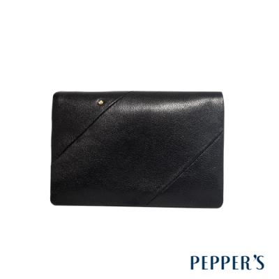 PEPPER S Ellie 羊皮三折中夾 - 煙燻黑