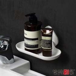 生活采家浴室強力無痕貼純白肥皂置物架
