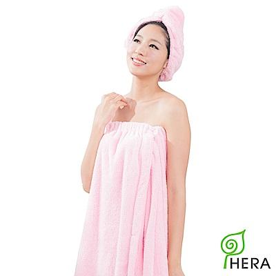 HERA 3M專利瞬吸快乾抗菌超柔纖浴裙-櫻花粉