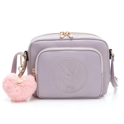 PLAYBOY-  斜背包 Morandi莫蘭迪系列 -淡紫色