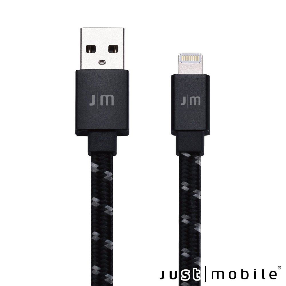 Just Mobile AluCable鋁質編織Lightning傳輸扁線1.2m