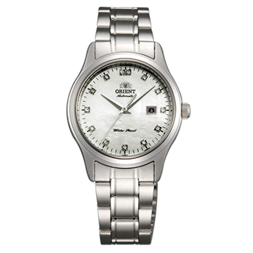 ORIENT東方錶  點鑽優雅 經典手動上鍊女錶鋼帶(FNR1Q004W0)-貝面30mm