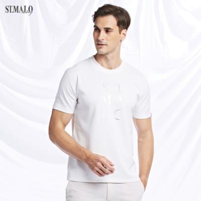 【ST.MALO】XT2銀纖維經典99.9%抗菌除臭光炫折射男上衣-晶亮白