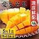 家購網嚴選 愛文芒果 5斤/盒(9~11顆/盒) 枋山果樹36班 product thumbnail 1