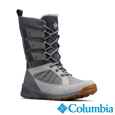 Columbia 哥倫比亞 女款- Omni TECH防水3D保暖雪靴-灰色