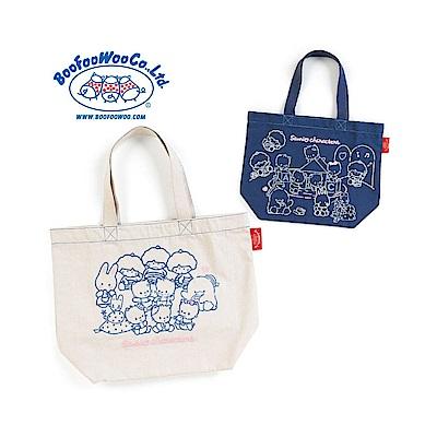 Sanrio SANRIO*BOOFOOWOO刺繡帆布手提袋(80年代-自然米)