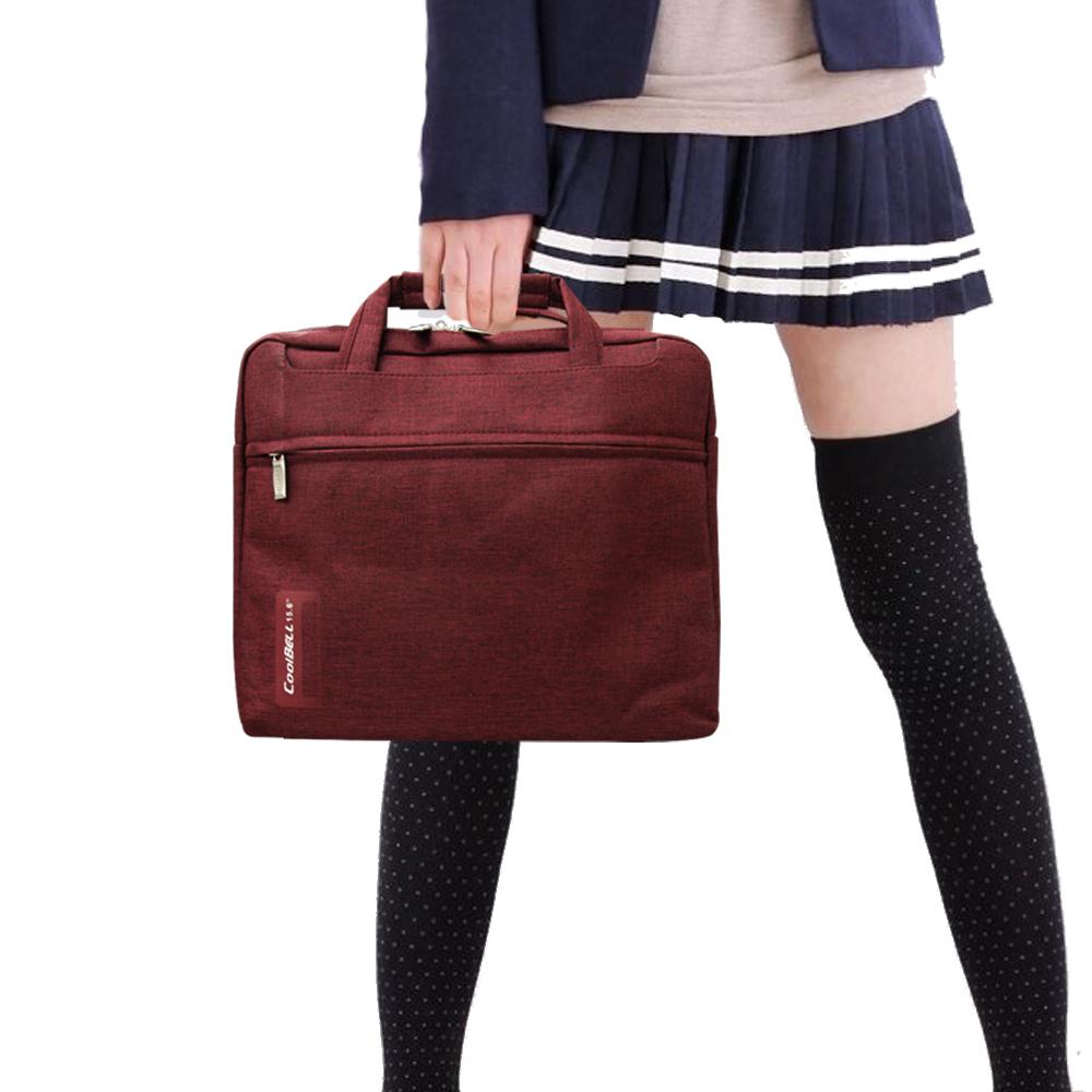PS學院風 13.1吋 雙拉鍊防潑水手提肩背兩用平板筆電包 秋楓紅
