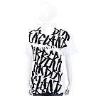 BURBERRY 塗鴉印花白色棉質短袖T恤(男/女可穿)
