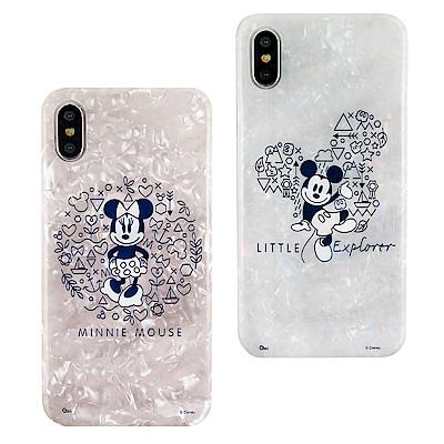 Disney迪士尼iPhone X/Xs五彩貝殼系列手機殼_復古 @ Y!購物