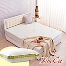(破盤組)LooCa 水漾天絲5cm天然乳膠床墊-單人3尺