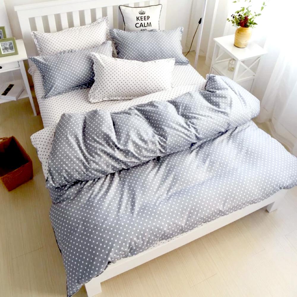 A-one雙人床包枕套三件組 大雪紛飛 美肌磨毛 台灣製