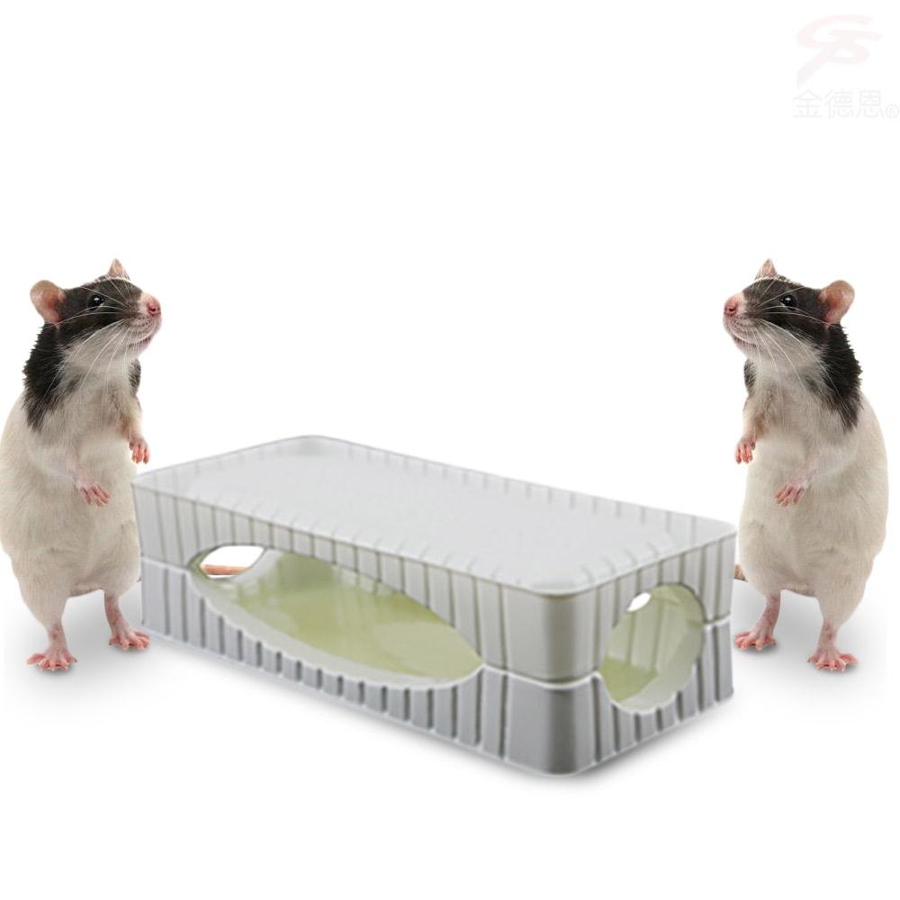 (買一送一)金德恩 台灣製造專利款 3D超黏力捕鼠盒2片裝/盒