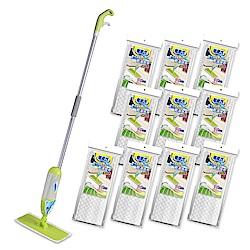 無塵氏乾溼兩用超纖拖把地板清潔組