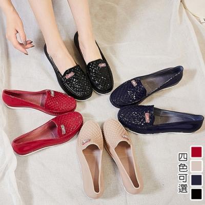 韓國KW美鞋館-美麗佳人輕量平底膠鞋-卡其色