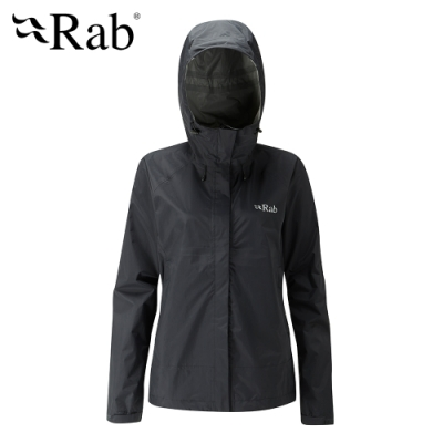 【RAB】Downpour Jacket高透氣防水外套 女款 黑色 #QWF63