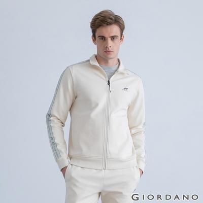 GIORDANO 男裝G-MOTION織帶運動外套 - 01 奶酪白色