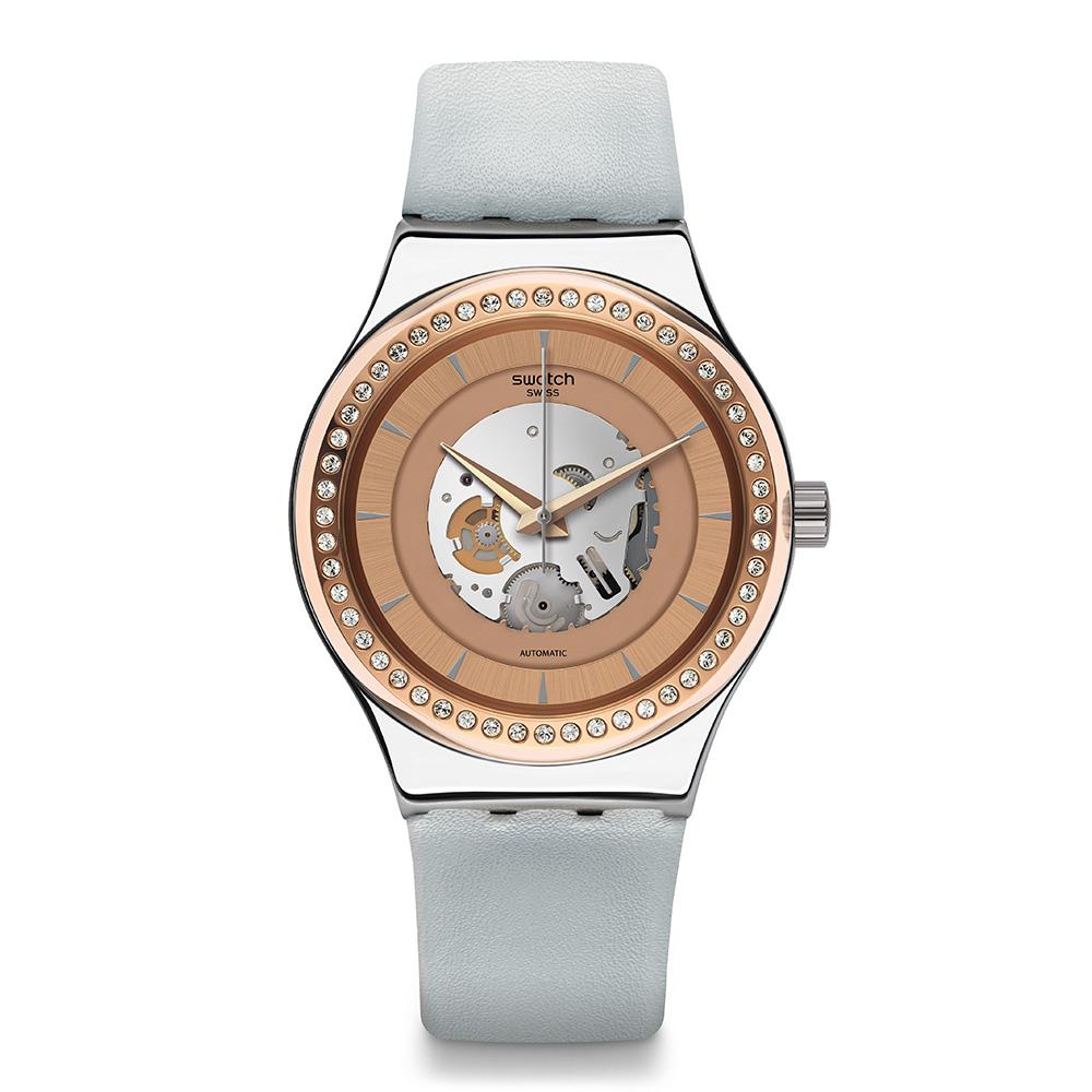 Swatch51號星球機械錶SISTEM POLAIRE冰極雪晶手錶