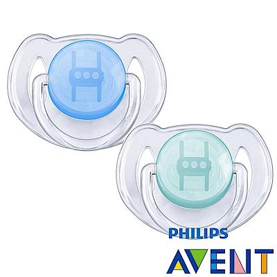 PHILIPS  AVENT矽膠安撫奶嘴6~18M+水晶系列(雙入)