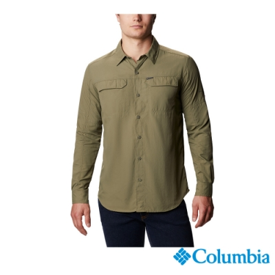 Columbia 哥倫比亞 男款 - Omni-Shade 防曬50快排長袖襯衫-軍綠 UAE06510AG