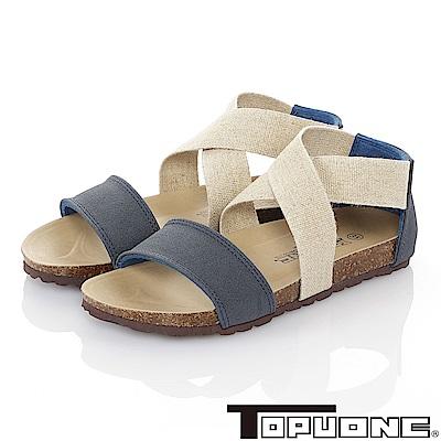 TOPU ONE 親子鞋-輕量減壓腳床型涼鞋童鞋-藍