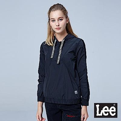 Lee 可收式套頭連帽休閒外套/UR-黑色