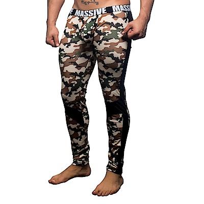 美國Andrew Christian MASSIVE戰地情人迷彩網眼貼身長褲