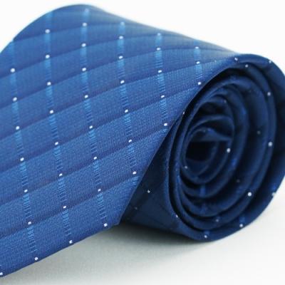 【Alpaca】深藍格紋領帶
