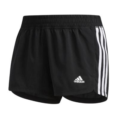 adidas 短褲 3-Stripes Shorts 女款 愛迪達 運動休閒 膝上 基本款 黑 白 EC0475