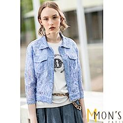 MONS  法式工藝蕾絲短版外套