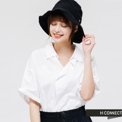 H:CONNECT 韓國品牌 配件 -logo造型漁夫帽-黑