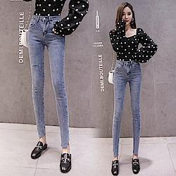 韓版時尚劃破牛仔褲S-2XL-WHATDAY