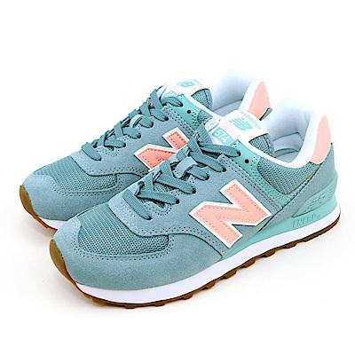 New-Balance 女休閒鞋 WL574FLB-B 綠