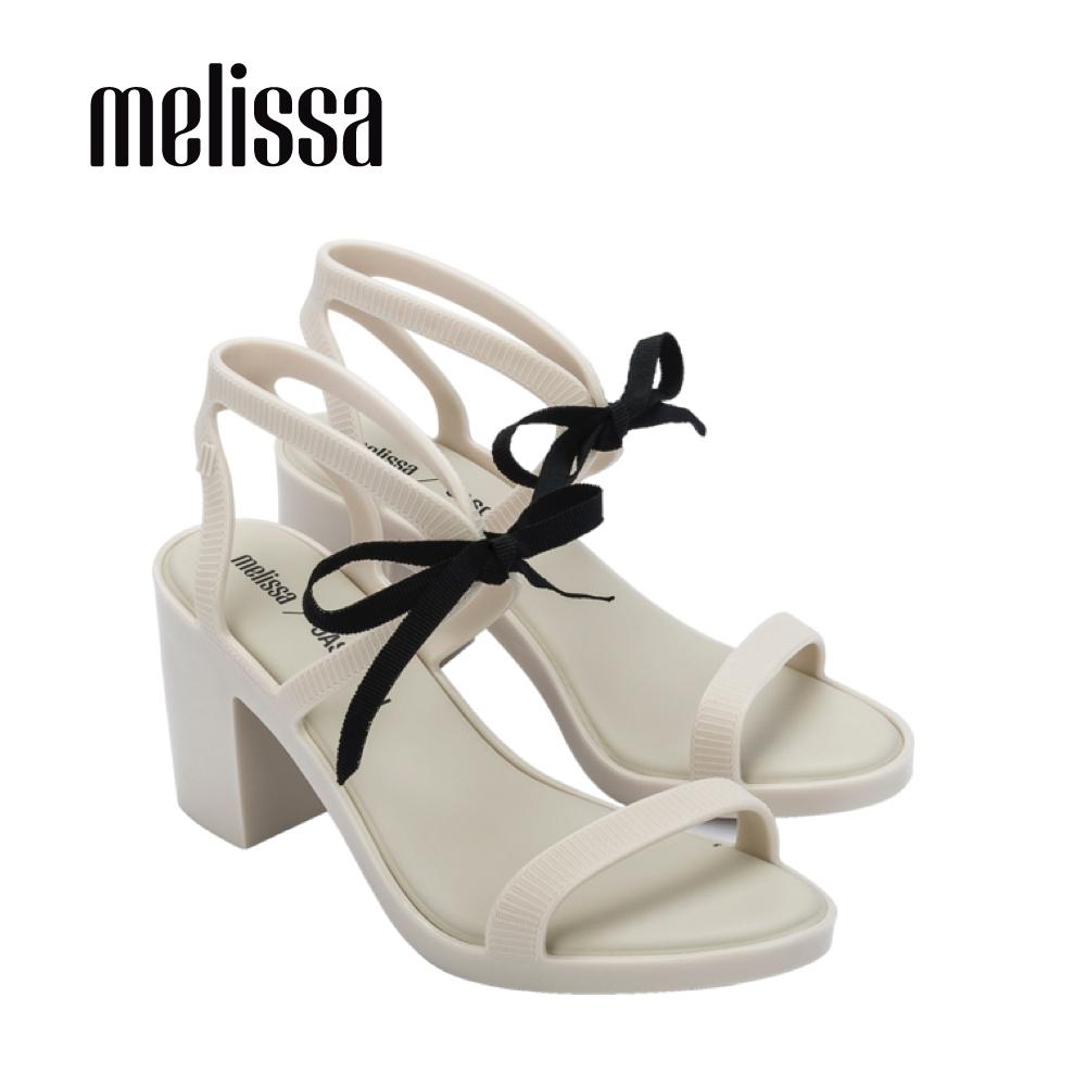 Melissa x JASON WU 時尚蝴蝶結綁帶高跟涼鞋 - 白