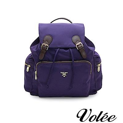 Volee好旅行系列經典隨行後揹包-法國紫