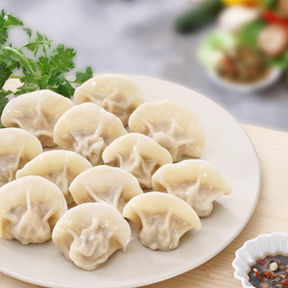 任選_四海游龍-鼎尚鮮 香菇瓜仔雞肉手工水餃(20入)