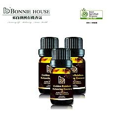 Bonnie House 脈輪淨化能量精油 10ml 3入組