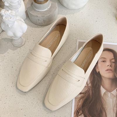 KEITH-WILL時尚鞋館 好評加碼帥氣素色樂福鞋-米
