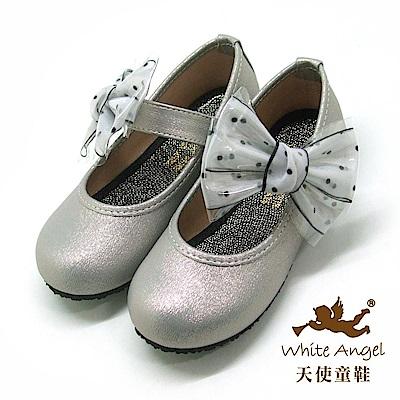 天使童鞋 清新女孩公主鞋(中-大童) J919-灰