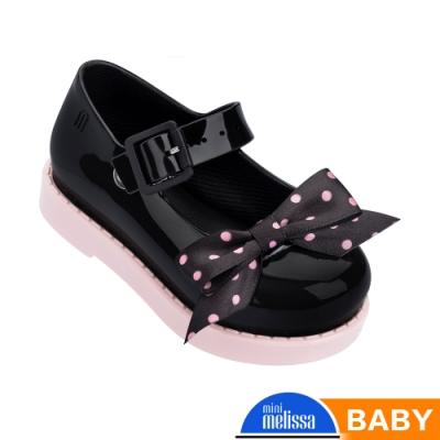 Melissa 氣質點點蝴蝶結公主鞋 寶寶款 黑