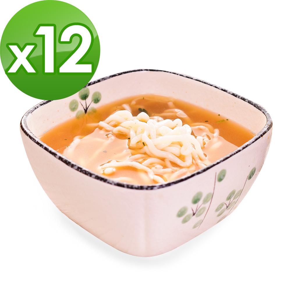 樂活e棧 低卡蒟蒻麵 燕麥拉麵+濃湯(共12份)