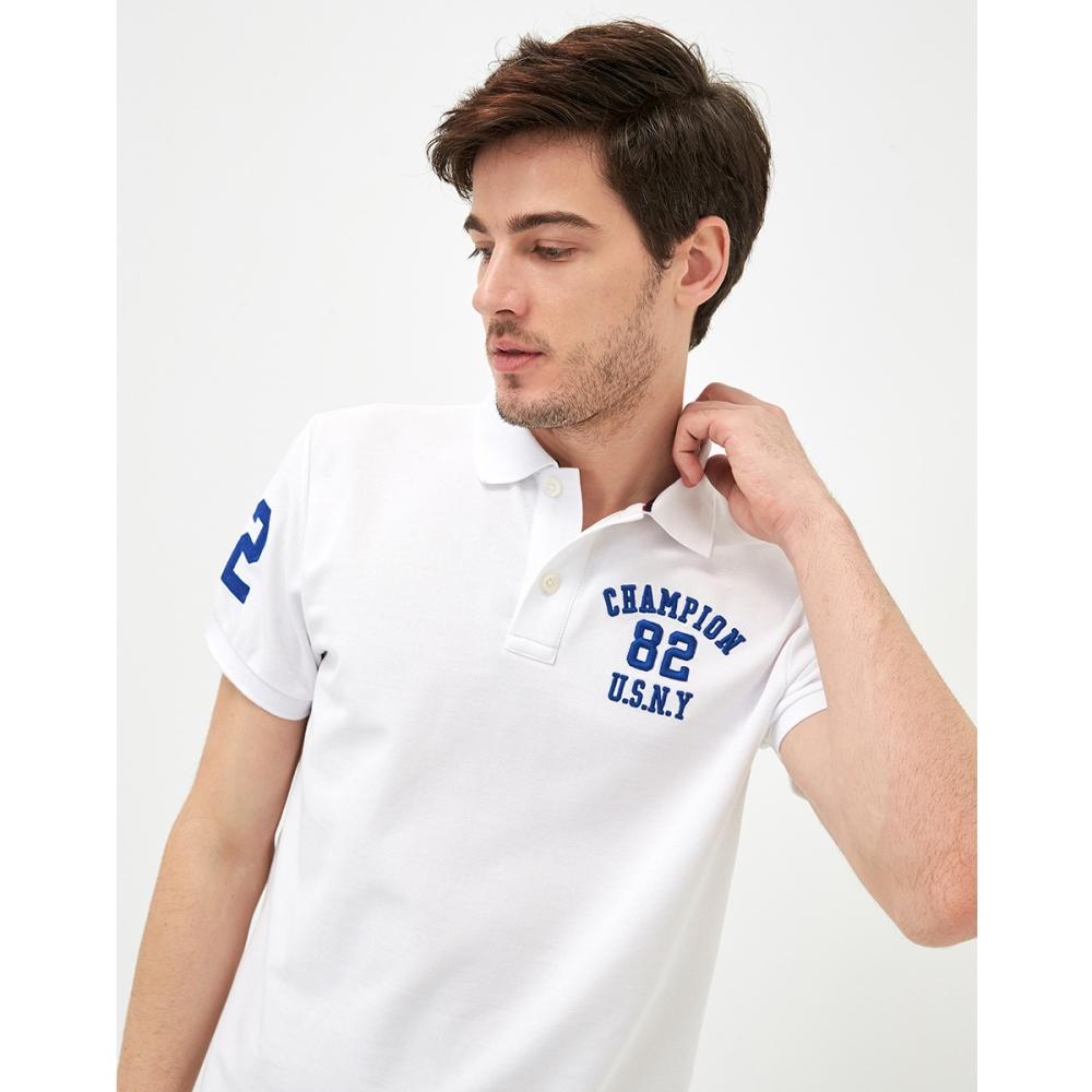 CACO-立體繡POLO衫-情侶款-(三色)-男【SAR010】